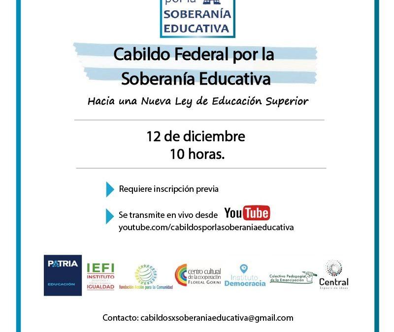 Cabildo General por la Soberanía Educativa | 12 de Diciembre